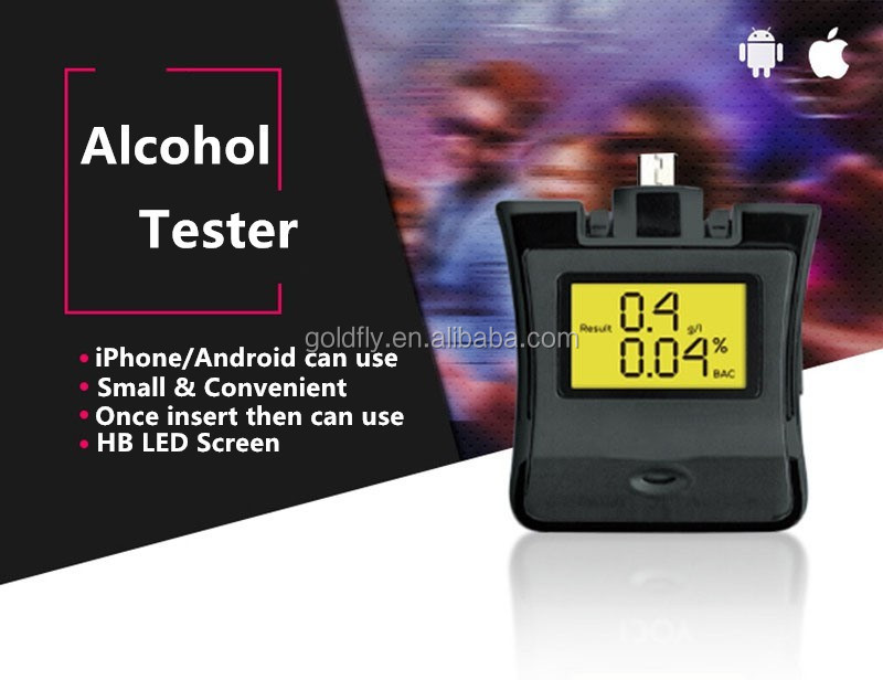NEW Protable Alcohol Tester For Android/for iPhone/for Sam/HTC/SONY LCD Breath alcohol tester breathalyzer analyzer backlight