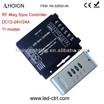 dc12 24v 24a led strip controller rf 4 key rgb controller,syncdc12 24v 24a led strip controller rf 4 key rgb controller,sync controller view larger image