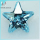 6x6mm Aquamarine Blue and Green Wholesale Star Shape CZ