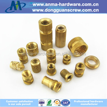 M6/m8 Double Threaded Brass Insert Nut For Audio Plastic Assembly ...