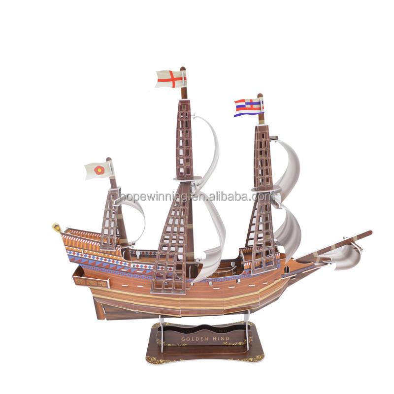 Schiff Modellbausatz Kinderpädagogisches Spielzeug der Piraten 3D Puzzles & Geduldspiele