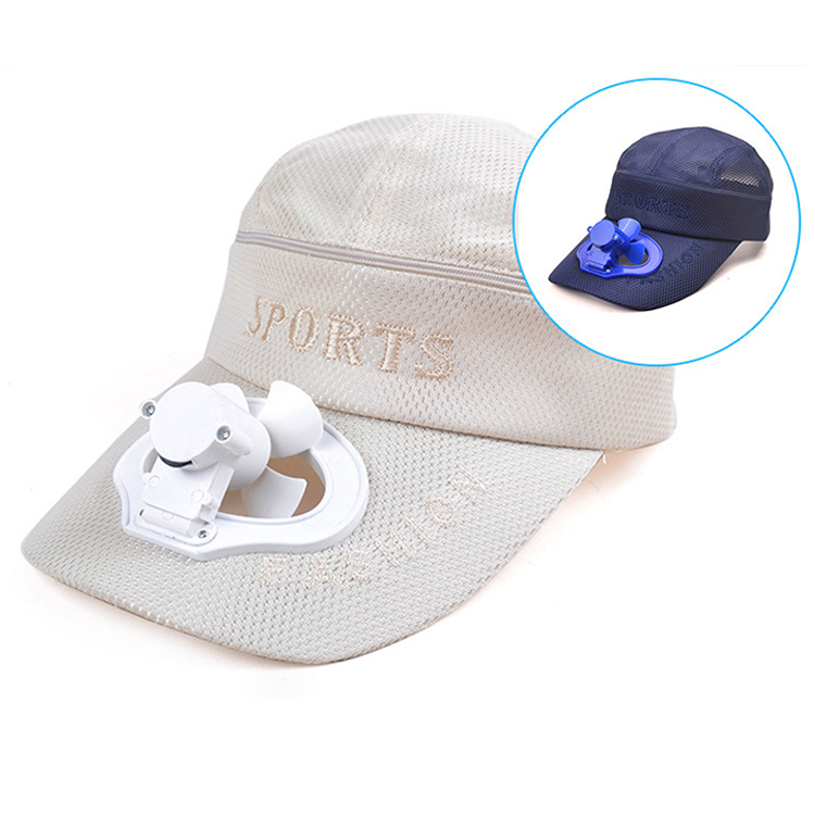 Summer Usb Rechargeable Powered Sun Hat Solar Fan Cap For Protection ... cc542f6d808