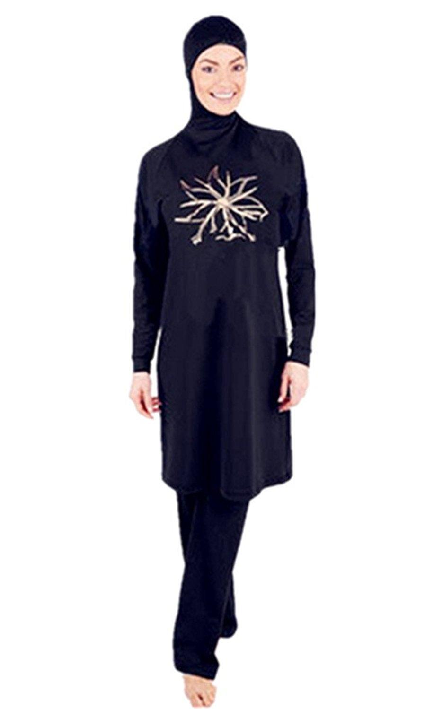 0f3b8f2168b8f Get Quotations · Modest Muslim Swimwear Islamic Swimsuit For Women hijab  swimwear full coverage swimwear muslim swimming beachwear swim