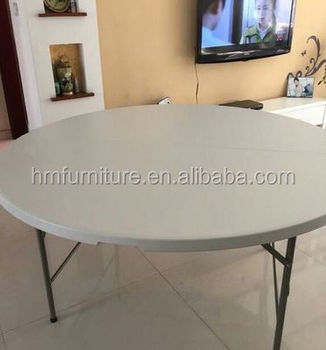 Round Plastic Outdoor Table Tops Plastic Garden Tables Foldable Party Table
