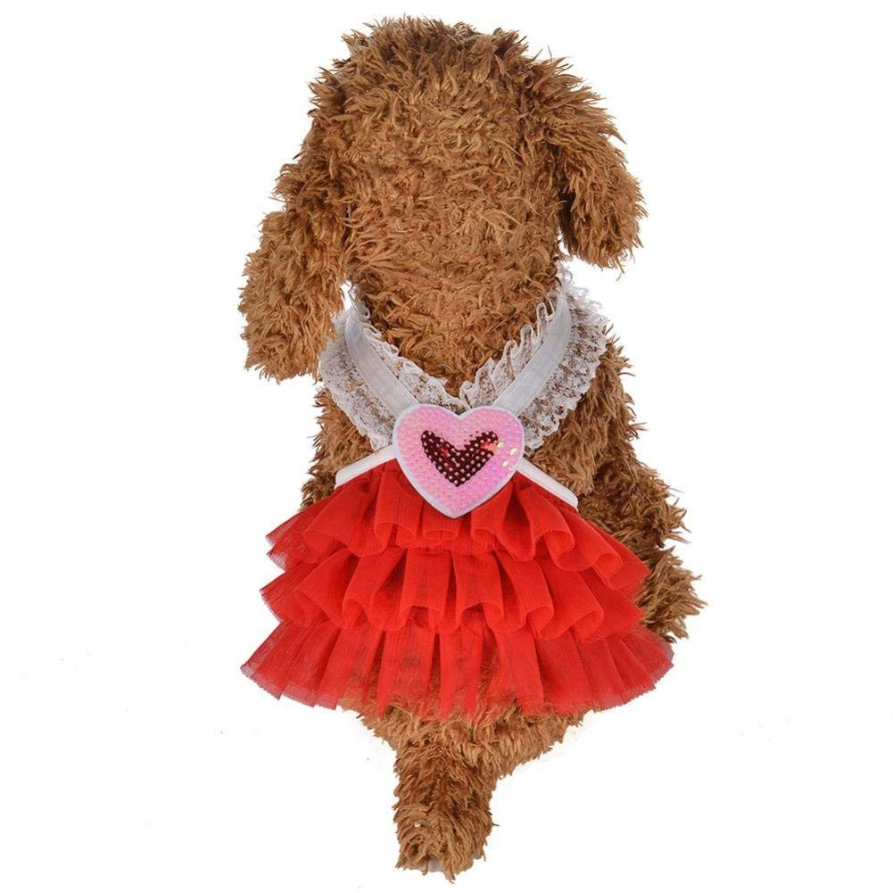 b6432f59ccf59 Buy Cute Summer Pet Dress Dog Dress Butterfly Yarn Princess Dress ...