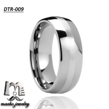 Wholesale jewelry factory Tungsten Carbide Silver Plated Engagement Wedding