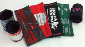 with spring wrap for neoprene can cooler,beer stubby holder