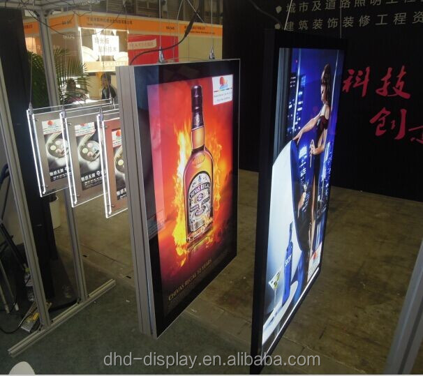 hanging signs from ceiling Double Side Ultra slim Hanging Advertising Led Light Box For display