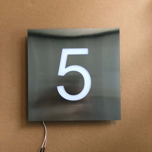 LED Digital House Number Personalized Large Number Sign