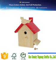 2016 design home decorative handmde wooden bird nest/wooden bird cages for sale