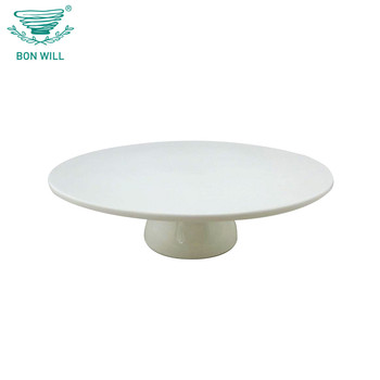 Wholesale flat opal cupcake porcelain cake stand plate