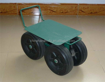 Wheeled Garden Chair Seat Tool Cart