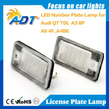 Error Free Led License Number Plate lamp light For Audi Q7 TDI A3 8P A6 4F A4 B6