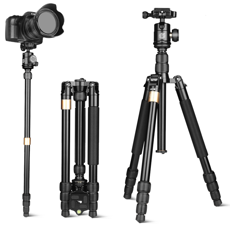 Q668S Professional camera tripod for digital video dslr aluminum photo professional tripod photographic tripod monopod фото