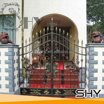 wrought iron small gate designs forge iron garden gate models