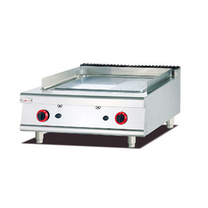 High quality cooking equipment table top griddle gas round griddle/grill