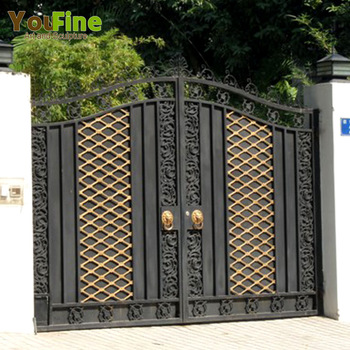 Simple Iron Gate Design For Home