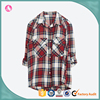 Wholan Apparel 2016 Oversized Red Plaid Shirts Woman Clothes Women High Quality Shirts