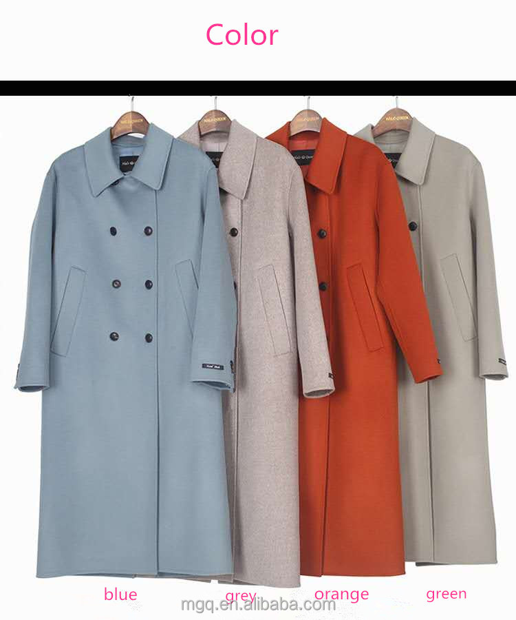 double breasted cashmere wool coat 2017 autumn fashion collection
