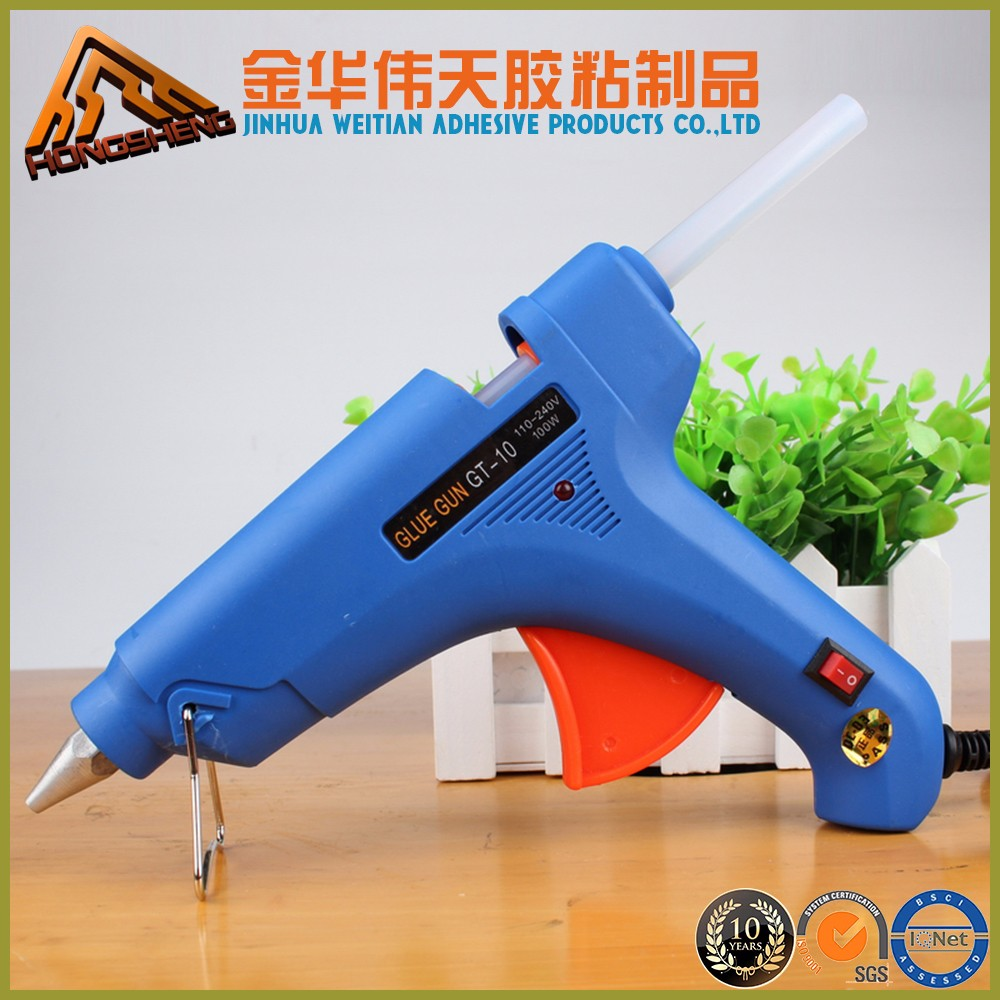 Factory price of 10-300W 100v-240v 50/60HZ hot melt glue spray gun for Arts and Craft Hot Melt Glue Stick Tool Glue Gun