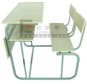 Modern Cheap prices school furniture combo double school desk and bench