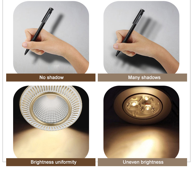 Long lifespan led ceiling lamp recessed mounted downlight spotlight