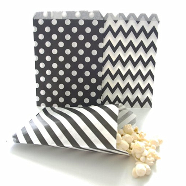 Treat paper bags striped & spot bags for different parties printing supplier Shenzhen China