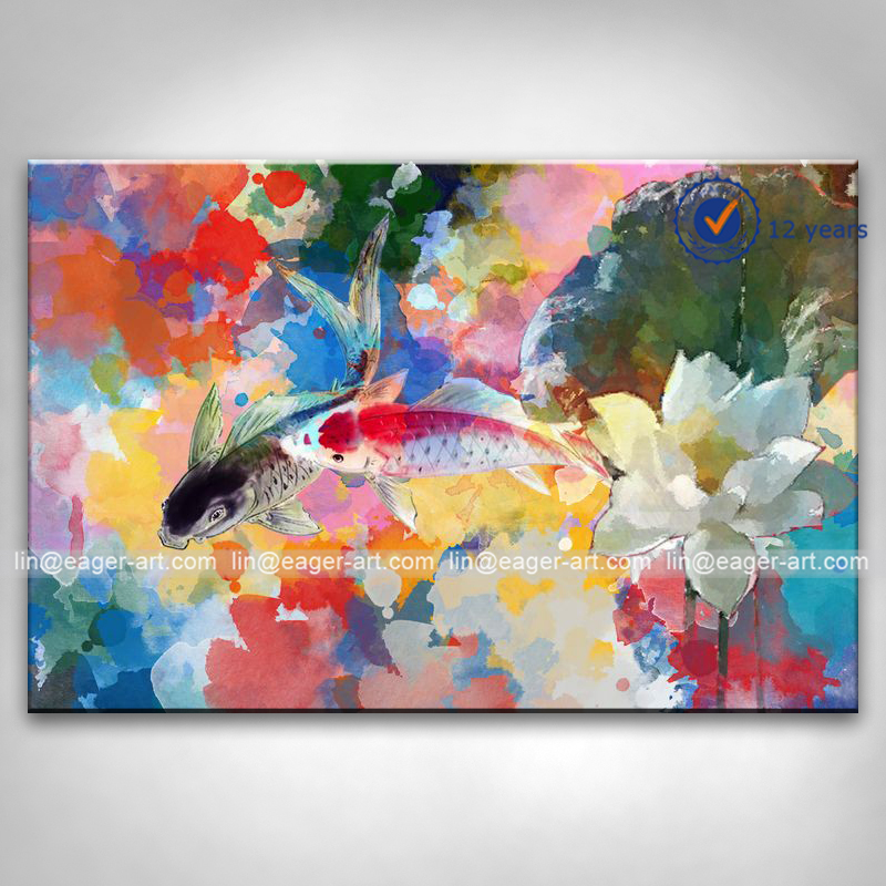 Home Decor Punctual Modern Carp Fishes Canvas Paintings On The Wall Abstract Fishes Animals Pop Art Canvas Pictures For Living Room Bed Room Cuadros