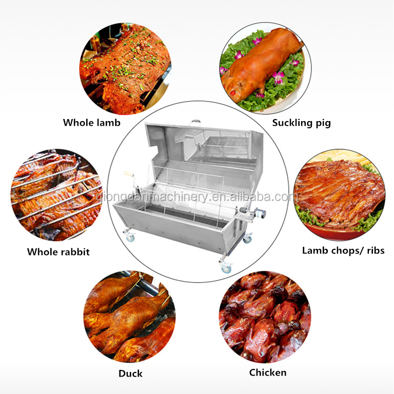 Barbecue for whole pig lamb charcoal bbq equipment automatic <strong>fish</strong> kebab rotating <strong>grill</strong> <strong>machine</strong> for sale