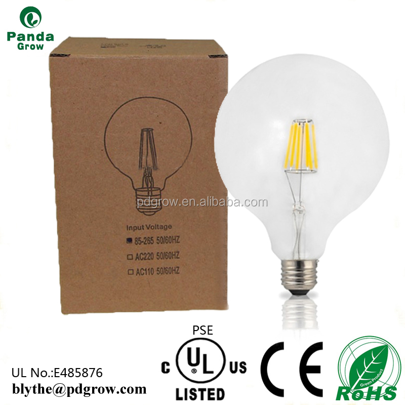 Good aging resistant G80 4W E26 E27 flexible/soft filament bulb led lighting