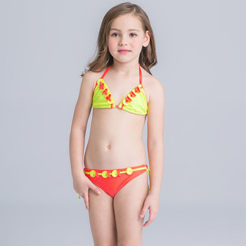 e5f32f2222aee HT-LGS popular nice children sexy bikini kids/girls swimsuit Sweet pretty  color Bathing