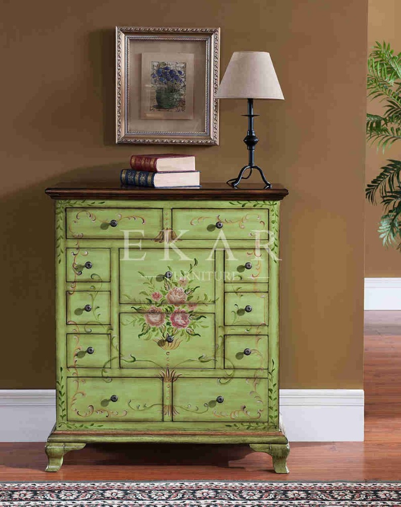 French Country Wood Drawer Chest Multi-Drawer Wood Chest Old Fashioned Chest Of Drawers