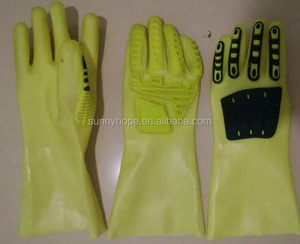SunnyHope PVC coated oil resistant TPR Impact Gloves