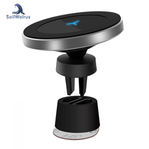 2018 Newest Product Customized Logo Qi Wireless Car Charger Magnetic Phone Holder Car Wireless Charger