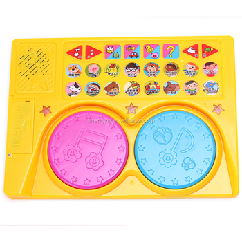 Children's toy drums used for children's sound books or toys