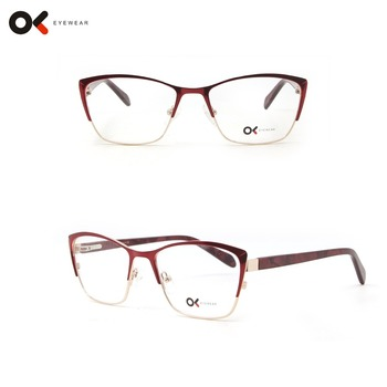 2018 New Model Cat Eye Women Metal Eyeglasses Frames With Lower Moq ...