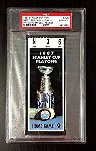 Autographed Signed Wayne Gretzky 1987 Stanley Cup Game 1 Ticket Stub Edmonton Oilers - PSA/DNA Authenticated - Signed Hockey Collectibles - NHL Gifts