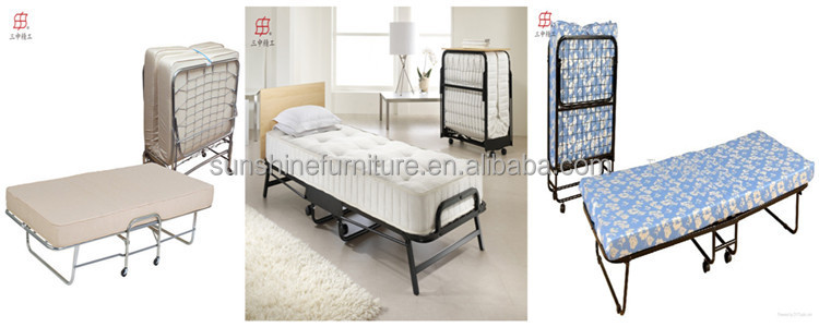 Cheap & fortable Metal Single Fold Up Bed With Memory
