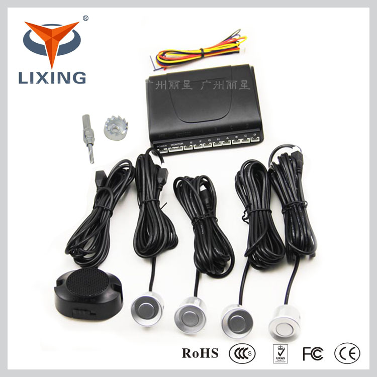 Universal 12V car lcd display 4 parking sensor reverse with alarm by three-step Bibi sound