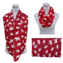 2015 new fashion jersey yarn knit elephant printing tube scarf soft elephant scarf infinity elephant scarf