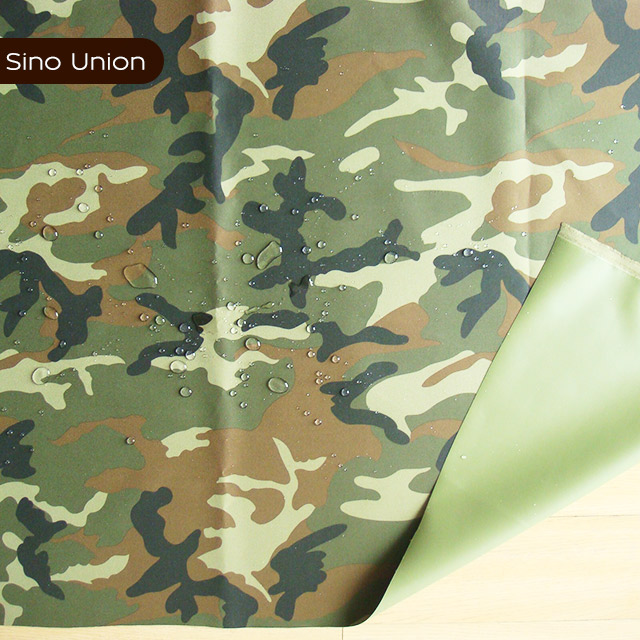 Printed waterproof camouflage polyester tire cord fabric