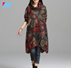 OEM women's clothing New design dress winter women lady's fashion big size high neck printed casual dress