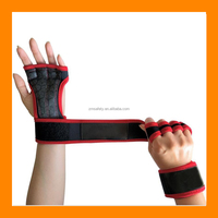 Best Price Crossfit Gloves Barbell Grip Gym Training Gloves Weight Lifting Gloves Straps Hand Wrist Support for Protection