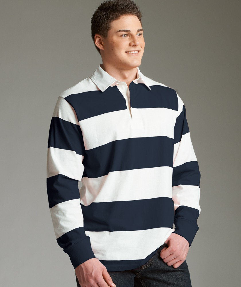 Unisex Heavy Cotton Blank Polo Style Classic Rugby Shirt4 Yarn