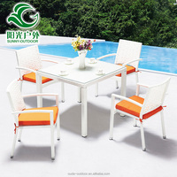 Cheap Price Bali Rattan Outdoor Garden Line Patio Furniture With Dining Table and Chairs