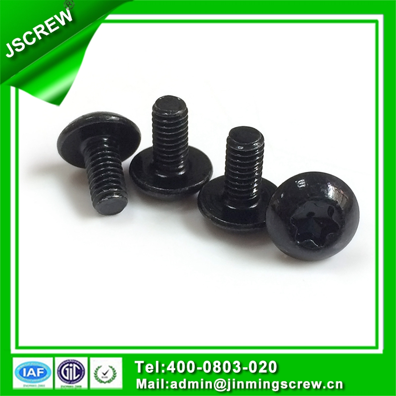 M4 Black round head torx machine screw bolt