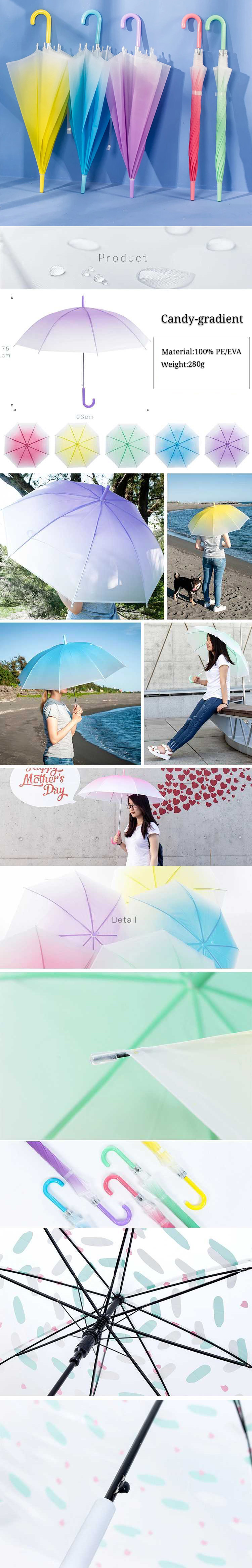 Kinderwagen umbrellas outdoor,transparent umbrella with gradient color