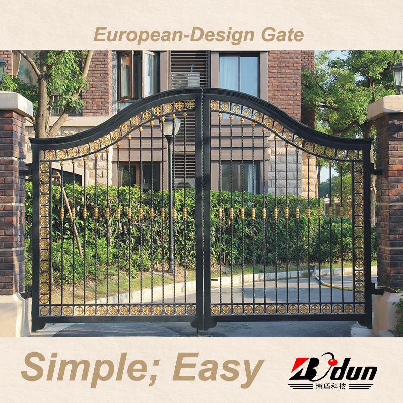Boundary wall gate design iron exterior doors oydm 20 for Wall gate design homes