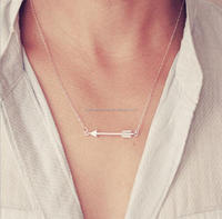 Metal Arrow Necklace for woman cheap jewelry wholesale