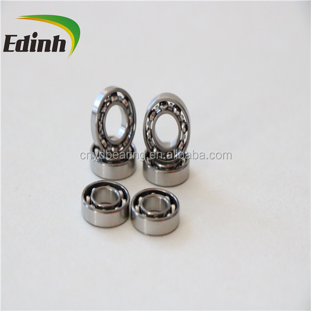 High speed silver plated R168ZZ toy bearing